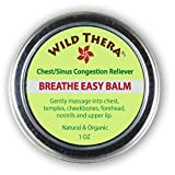 Breathe Easy Balm. Organic & Natural relief from sinus infection, nasal congestion, stuffy nose, allergies, dry cough and colds. Vaporizer to open blocked airways, loosen mucus, release toxins.
