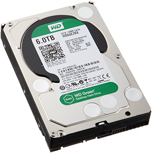 WD 内蔵HDD Green 6TB 3.5inch SATA3.0(SATA 6 Gb/s) 64MB Inteilipower 2年保証 WD60EZRX