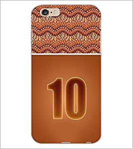 PrintDhaba Numerology Number 10 D-3643 Back Case Cover for APPLE IPHONE 6 PLUS (Multi-Coloured)