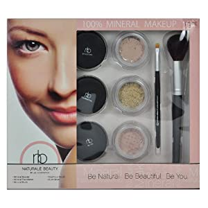 Naturale Beauty Mineral Face Makeup Set, Light Edition