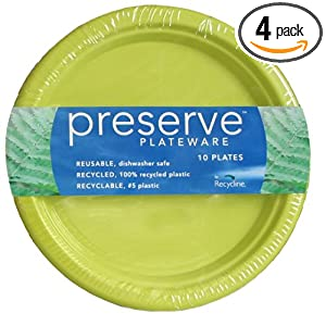 Preserve By Recycline Small Pear Green Plates