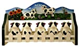 5 PC SPICE RACK W/ WOOD HOLDER COW DECOR