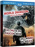 echange, troc World Invasion: Battle Los Angeles + La chute du faucon noir + Les larmes du soleil [Blu-ray]