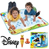 TOMY Aquadoodle 8 Designs - Rainbow, Animal Sounds, Winnie The Pooh, Peppa Pig Mini Mats, Chuggington, Disney Princess, Cars Collection 2, Twin Pack Aquadoodle Pens (Winnie The Pooh Aquadoodle)