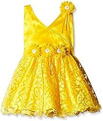 Atayant Girl Evening Dress (ATAYK_001_5:6YR_Yellow_XL)