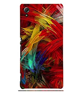 Animated Pattern Colourful Feather 3D Hard Polycarbonate Designer Back Case Cover for Sony Xperia Z4