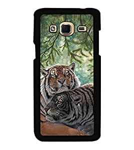 Fuson Premium 2D Back Case Cover Cute tiger With Multi Background Degined For Samsung Galaxy J3::Samsung Galaxy J3 J300F