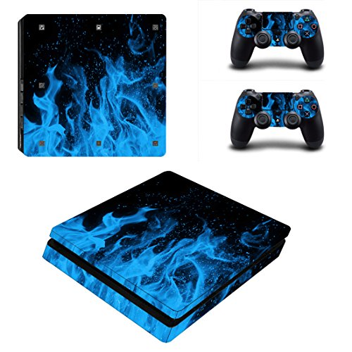 SKINOWN® PS4 S Slim Skins Sticker Vinly Decal Cover for Sony PS4 PlayStation 4 Console and Controller (Playstation 4 Console Slim compare prices)