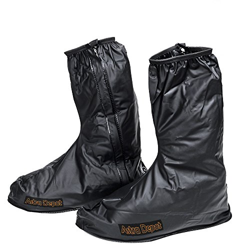 Astra Depot Motorcycle Men Waterproof Outdoor Protective Gear Rain Boot Shoe Cover Zipper US 10-11 / Euro 44-45