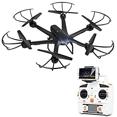 DBPOWER X600C FPV RC Hexacopter Drone with Wifi Camera Live Video Headless Mode 2.4GHz 4 Chanel 6 Axis Gyro RTF Left and Right Hand Mode Quadcopter for IOS & Android System