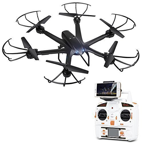 DBPOWER X600C FPV RC Hexacopter Drone with Wifi Camera Live Video