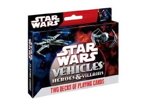 Cartamundi Star Wars Heroes & Villains: Vehicles 2-deck Tin Set - 1