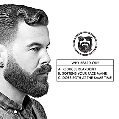 Beard Oil and Unscented Conditioning Oil For Men That Moisturizes, Softens, and Eliminates Beard Itching - All Natural Beard Oil Made In The USA - 1 fl oz/ 30 ml