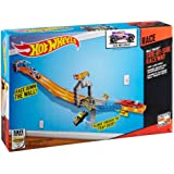 Hot Wheels Wall Tracks Side-By-Side Raceway Trackset