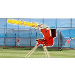 Heater Trend Sports Softball Pitching Machine and Xtender 24 Home Batting Cage by Trend Sports