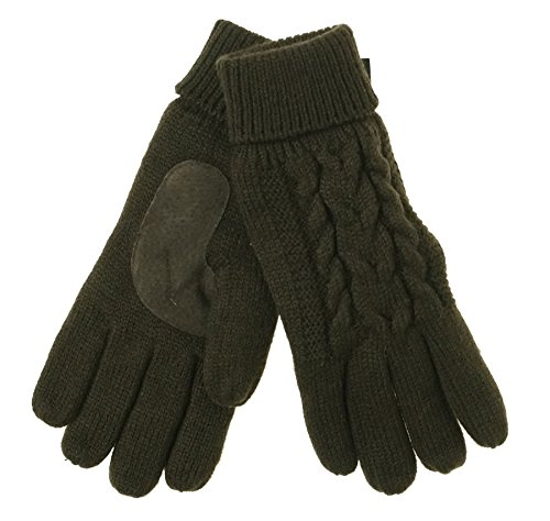 isotoner-womens-solid-triple-cable-knit-suede-palm-gloves-chocolate-brown-one-size