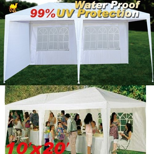 Strong Camel Wedding Party Outdoor Tent Easy Set Gazebo BBQ Pavilion Canopy 10'X20'---White