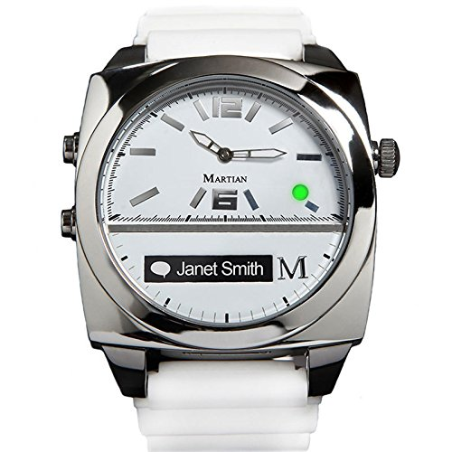 Martian Watches Victory Smart Watch (White/Silver)