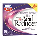Rite Aid Acid Reducer, Famotidine tablets, 10 mg. 180 tabs