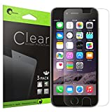 iPhone 6 Screen Protector , [Ultra HD Clear] i-Blason Apple iPhone 6 4.7 inch Screen Protector - 3 X Pack Premium