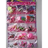 Group Of 15 Bags 50 Items Shoes Glasses Necklace Tableware Fit Barbie Dolls