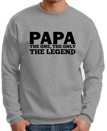 Papa, The One, The Only, The Legend Premium Crewneck Sweatshirt Large Light Steel