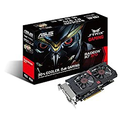 ASUS Radeon R7 370 STRIX GAMING EDITION OVERCLOCKED 2GB 256-Bit GDDR5 PCI Express 3.0 HDCP Ready CrossFireX Support Graphic Video Card
