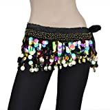 BellyLady Plus Size Belly Dance Hip Scarf With Colorful Paillettes SSIZE