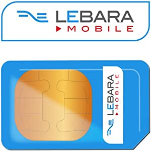 Lebara Uk Pay As You Go SIM Card with Unlimited Free Incoming Calls and Calls to USA $0.07 a Minute