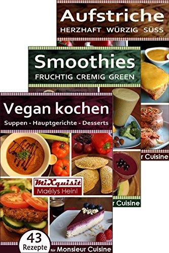 rezeptbucher-paket-vegan-kochen-smoothies-aufstriche-147-rezepte-fur-die-kuchenmaschine-monsieur-cui