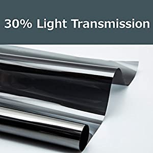 30% shade color 12 Inches by 10 Feet Window Tint Film Roll, for privacy and heat reduction by PROTINT WINDOWS