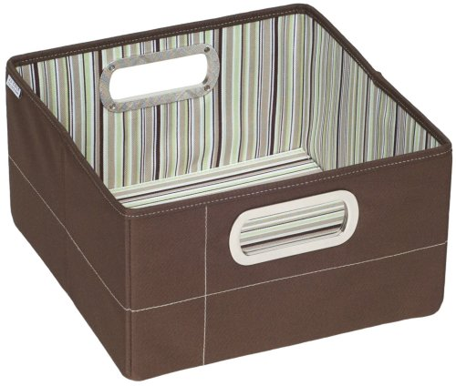 Nursery storage jj cole collections storage box cocoa for Decor containers coles