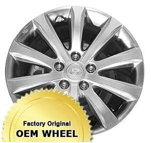 HYUNDAI AZERA 17×7 10 SPOKE Factory Oem Wheel Rim- SILVER – Remanufactured