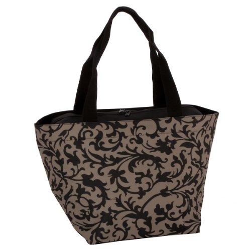 Reisenthel Shopper M, Borsa per la Spesa, per lo Shopping, baroque taupe / fantasia marrone chiaro-nero, ZS7027