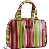 Hadaki Makeup Case Pod/Toiletry Bag - Jazz Stripes Ruby