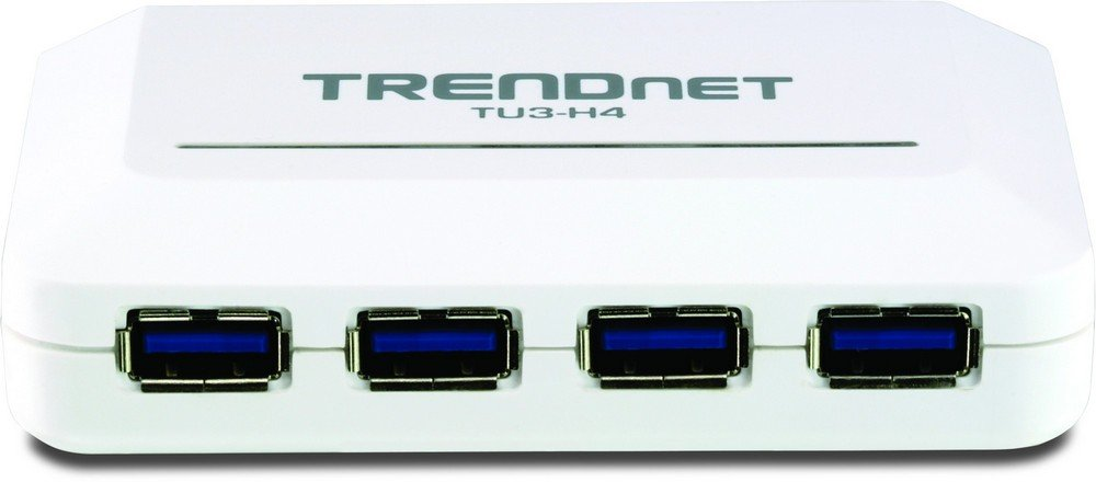 Hub TRENDNET TU3H4 BLANC 4PORTS