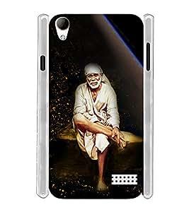 Lord Shirdi Sai Baba Bagwan Ji Soft Silicon Rubberized Back Case Cover for Intex Aqua Y2 Ultra