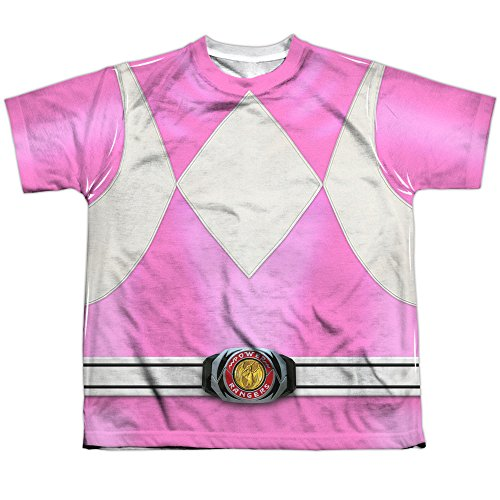 Power Rangers Children's Live Action TV Series Pink Costume Big Boys Front Print