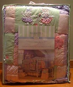 Ballet Bunnies 4 Piece Baby Crib Bedding Set