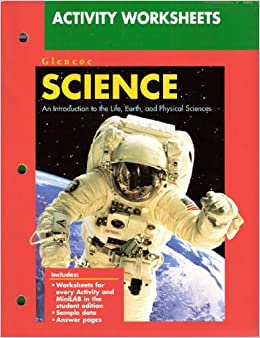 activity worksheets glencoe science an introduction to the life earth and physical sciences. Black Bedroom Furniture Sets. Home Design Ideas