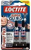 LOCTITE 1858818 SUPERGLUE-3 Lot de 2 * Power Flex 3gr