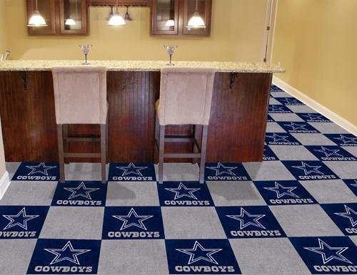 """Dallas Cowboys NFL Carpet 18""""x18"""" Tiles"""