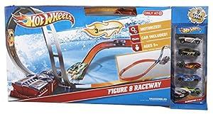 Hot Wheels HW Race Auf dieser Superpiste meistern die Hot-Wheels-Fahrzeuge steile Loopings und enge Kurven auf einer Streckenlänge von mehr als 1,80 Metern. Hot Wheels Racewas + 6 Figuren.