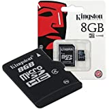 MEMORIA SD MICRO 8GB KINGSTON CON UN ADAPTADOR A SD SDC4/8GB