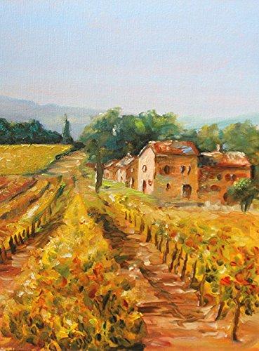 bild-landschaft-toskana-malerei-kunst-original-olmalerei-gemalde-18x24-cm