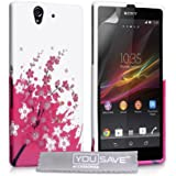 Yousave Accessories Silicone Gel Cover Case for Sony Xperia Z - Floral Bee