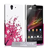 Yousave Accessories Silicone Gel Cover Case for Sony Xperia Z - Floral Beeby Yousave Accessories