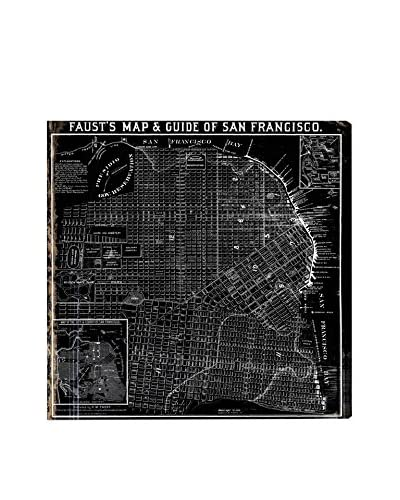 Oliver Gal Hatcher & Ethan 'Faust's Map of San Francisco 1882' Canvas Art