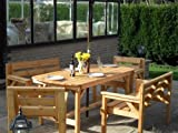 5 piece Wooden Garden Furniture set, FULLY ASSEMBLED, UK manufactured
