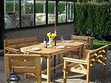 5 piece Wooden Garden Furniture set, FULLY ASSEMBLED, UK manufactured